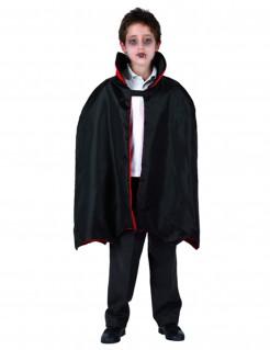 Graf Dracula Umhang Vampir für Kinder schwarz-rot