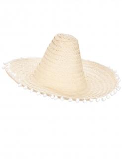 Mexikanischer Sombrero mit Bommeln Hut beige