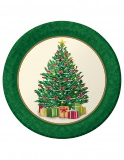 Pappteller Weihnachten 8 Stück bunt 23cm