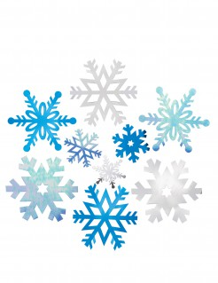 Schneeflocken Deko zum Aufhängen 12-teilig