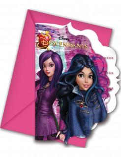 Disney™ Descendants - Die Nachkommen Einladungskarten und Umschläge 12-teilig bunt 9x11,5cm