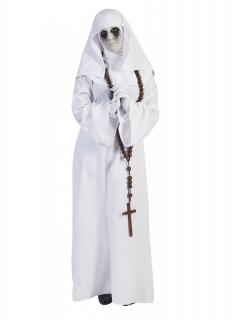 Geister-Nonne Horrorkostüm für Damen weiss