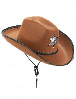 Sheriff Cowboy-Hut braun-schwarz