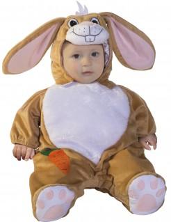 Hasenkostüm für Babys braun-weiss