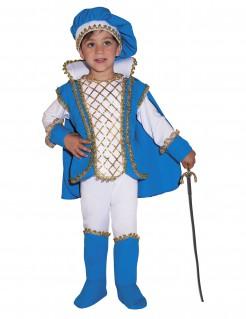 Prinzen-Kostüm für Jungen in Blau-Weiß mit Gold