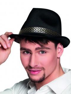 Hut mit Band für Erwachsene schwarz-gold