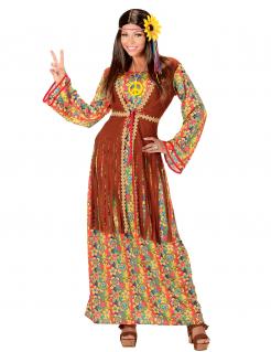 Hippie-Frauenkostüm 60er Jahre bunt