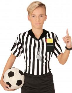 Schiedsrichter-Oberteil für Kinder schwarz-weiss
