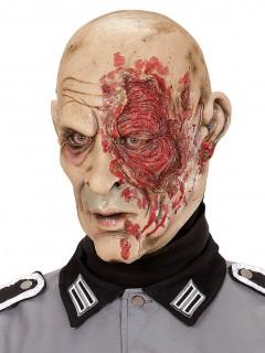 Zombie-Maske Soldat Halloween hautfarben-rot