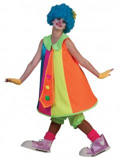 Lustiges Clownfrau Kostüm für Damen bunt