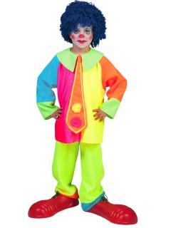 Clownkostüm für Kinder bunt