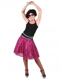 Disco-Damenrock Pailletten rosa