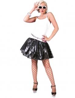 Schwarzer Paillettenrock für Damen