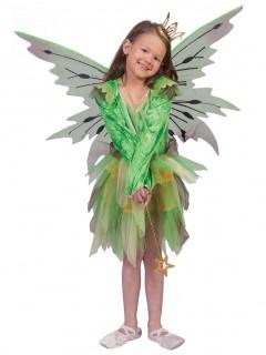 Elfen-Kostüm Mädchen grün/bunt