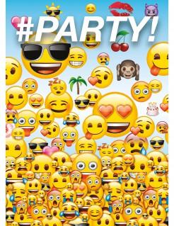 Einladungskarten Lizenzware Emoji 8 Stück bunt