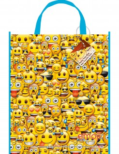 Tüte Lizenzartikel Emoji Geburtstagstüte bunt 33x28cm