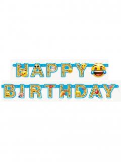Happy Birthday Girlande Lizenzartikel Emoji 1,82m
