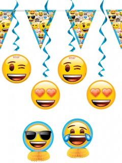 Deko-Set Lizenzware Emoji 7-teilig bunt