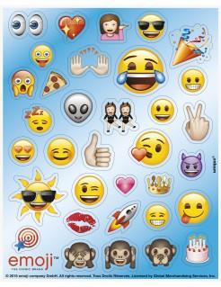 Sticker Lizenzartikel Emojis selbstklebend 136-teilig bunt