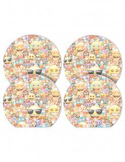 Emoji™ Notizblöcke Lizenzware 4 Stück bunt 5x6cm