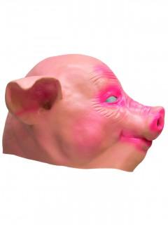 Schwein Latex-Maske Ferkel rosa