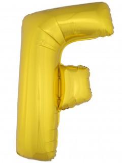 Aluminiumballon Buchstabe F gold 1 m