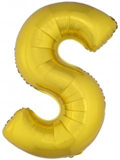 Riesen-Luftballon Buchstaben-Ballon S gold 1m