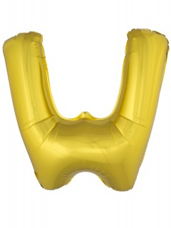 Aluminium-Luftballon Buchstabe W Partydeko gold 1m