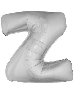 Aluminium-Luftballon Buchstabe Z Partydeko silber 1m