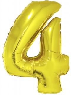 Folienballon Ziffer 4 goldfarben 102cm