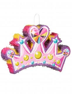 Piñata Krone Diadem Prinzessin bunt