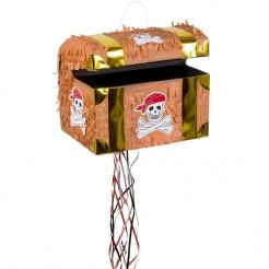 Piñata Schatztruhe Piraten braun-gold