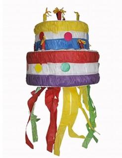 Piñata Geburtstagstorte Kuchen bunt 30cm