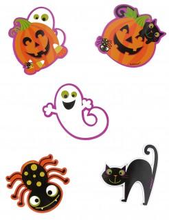 Halloween-Tisch-Deko kleine Spukmonster 10 Stück bunt 9cm 10g