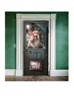 Irrenanstalt Türposter Halloween-Deko bunt 85x165cm