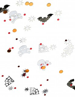 Gruseliges Konfetti Spinnen Totenköpfe Fledermäuse Halloween Tischdeko bunt 14g