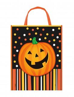 Kürbis Trick or Treat Tasche Halloween orange-bunt 38x30cm