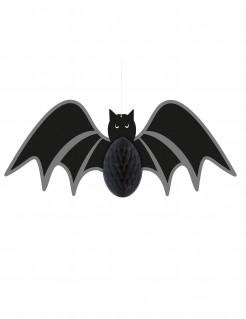Fledermaus-Wabendeko Halloween schwarz 35cm