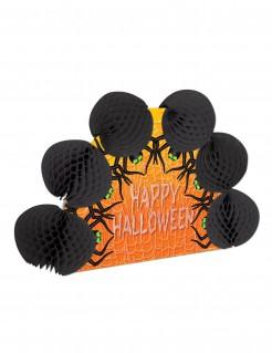 Happy Halloween Tischdeko Spinnen schwarz-orange 15x21cm