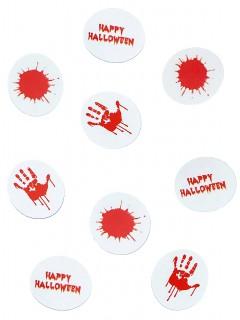 Halloween Konfetti Blutspuren rot-weiss