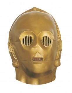 C-3PO-Maske aus Star Wars für Erwachsene goldfarben