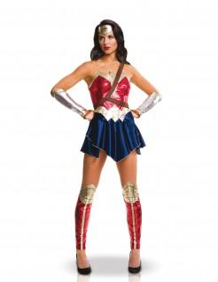 DC Wonder Woman Damenkostüm Lizenzware blau-rot-gold