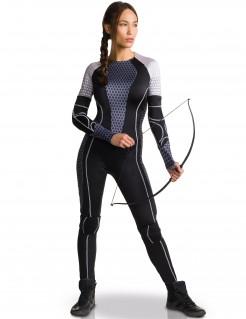 Katniss Everdeen Die Tribute von Panem Catching Fire Damenkostüm schwarz-grau