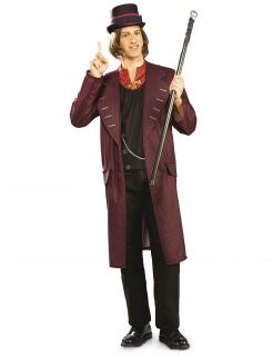 Charlie und die Schokoladenfabrik™ Willy Wonka™ KostümErwachsene violett-schwarz