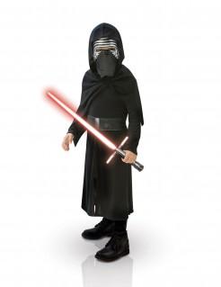 Kylo Ren™ Star Wars™ Kinderkostüm mit Lichtschwert Lzenzartikel schwarz-silber