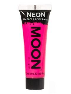 Moon Glow - Neon UV Gesicht- und Körperfarbe Schminke Makeup Bodypainting fluoreszierend intensiv rosa 12ml