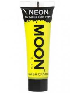 Moon Glow - Neon UV Gesicht- und Körperfarbe Schminke Makeup Bodypainting fluoreszierend intensiv gelb 12ml