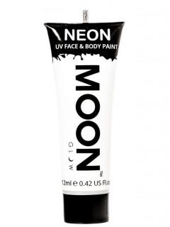 Moon Glow - Neon UV Gesicht- und Körperfarbe Schminke Makeup Bodypainting fluoreszierend weiss 12ml
