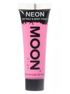 Moon Glow - Neon UV Gesicht- und Körperfarbe Schminke Makeup Bodypainting fluoreszierend pastell rosa 12ml