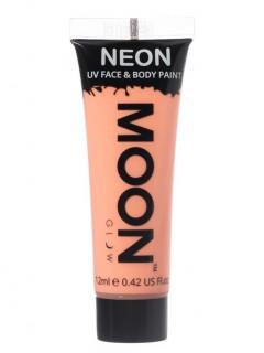 Moon Glow - Neon UV Gesicht- und Körperfarbe Schminke Makeup Bodypainting fluoreszierend pastell orange 12ml